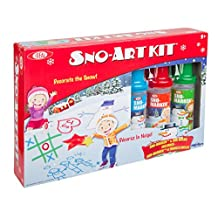 Ideal Sno-Art Kit with Various Color Sno-Markers and Sno-Molds