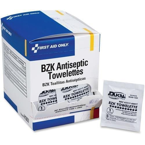 (H307 First Aid Only BZK Antiseptic Towelettes - 4.75
