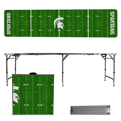 NCAA Michigan State University Spartans Football Field Version 8-Feet Folding Tailgate Table by Victory Tailgate