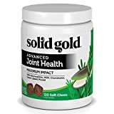 Product review for Solid Gold Advanced Joint Health Chews for Dogs – Maximum Impact; Natural, Holistic, Grain-Free Supplement with Green Lipped Mussel, Glucosamine, MSM, Chondroitin; 120 chews