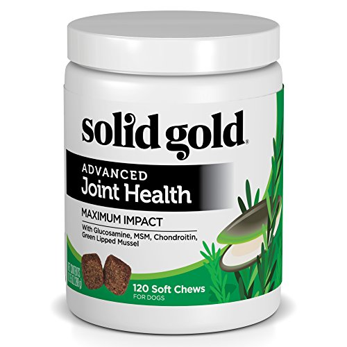 - Solid Gold Glucosamine & Advanced Joint Health Chews for Dogs; Natural, Holistic Grain-Free Supplement with Glucosamine, MSM & Chondroitin; 120ct