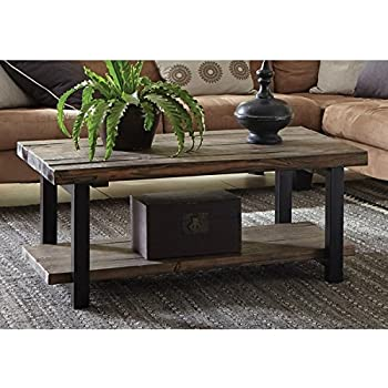 Amazon Com Montana Woodworks Collection Glacier Country Log Coffee Table Stained And Lacquered