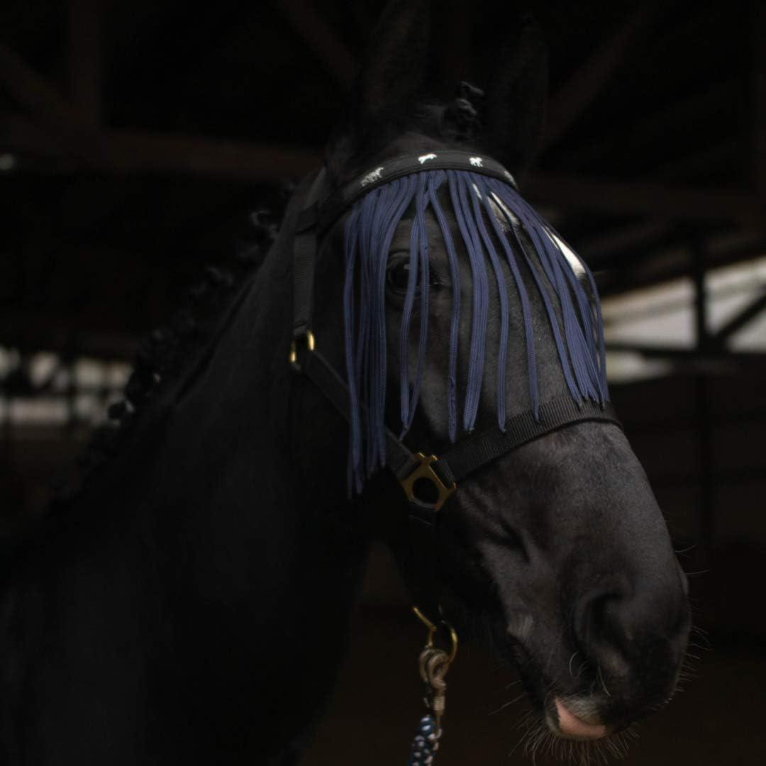Bremsen Fliegenfransen f/ür Pferde M/ücken Fliegenhaube mit Klettverschluss passend f/ür Warmblut und Pony hochwirksamer Insektenschutz gegen Fliegen