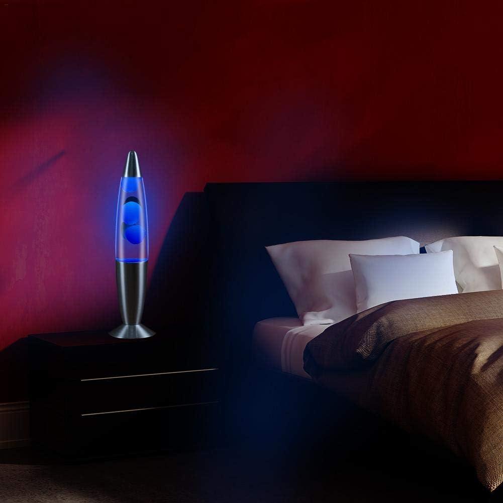 Lampe De Chevet Chambre Lampe De Nuit Lampe De Cire /À Fond M/étallique Eruditter Lampe De Lave Volcanique Lampe De Table De Lave Assortie