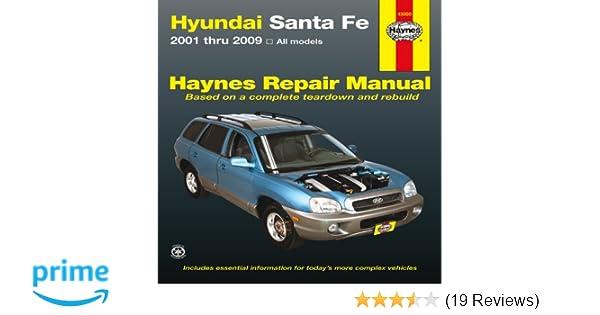 hyundai sante fe 2001 2009 repair manual haynes repair manual rh amazon com Santa Fe Dash 8 Santa Fe 3751 1992