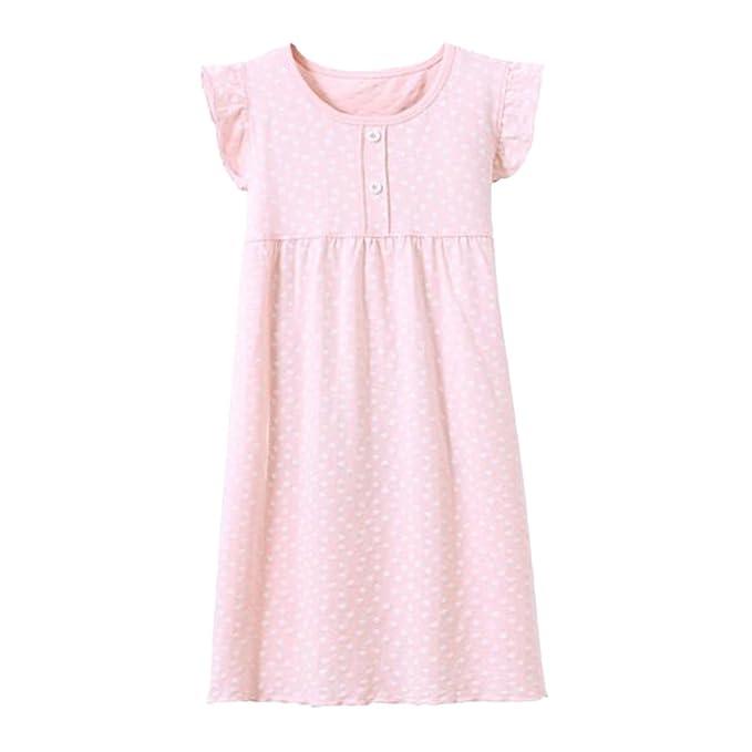 3-8 Años Ropa De Dormir De Manga Corta Niñas Camisón Y Pijama Vestido Estampado para Princesa De Moda: Amazon.es: Ropa y accesorios