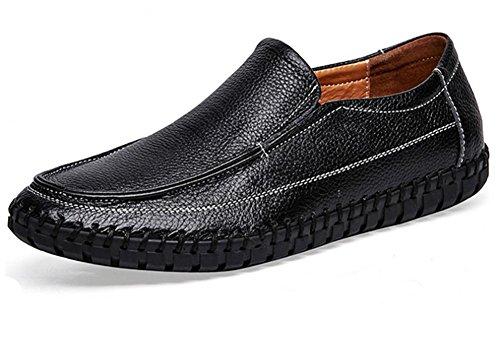 2017 zapatos de los hombres nuevos de cuero transpirable zapatos de gran tamaño cosidos a mano 1