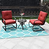 PHI VILLA Outdoor Springs Motion Chairs and Round