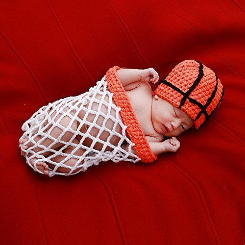 Price comparison product image UOMNY Newborn photography props Infant Baby Boy girl Photography Prop Costume Cute Cap Pants Baby Photo Props basketball