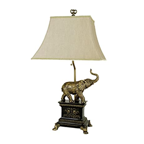 ORE International 8203 Elephant Table Lamp, Antique Gold ...