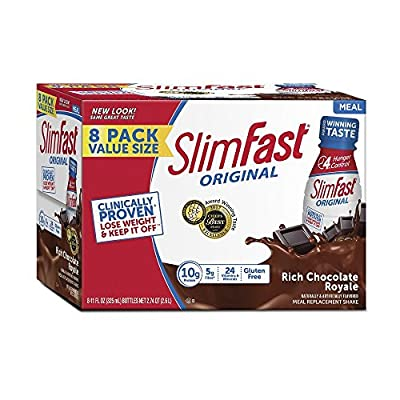 SlimFast Original, Meal Replacement Shake, Rich Chocolate Royal, 11 Ounce, 8 Count