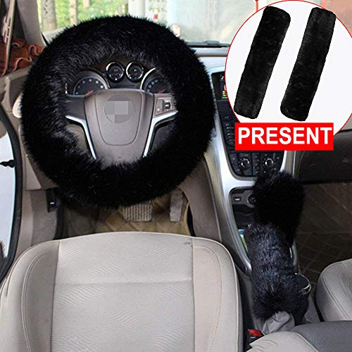 fluffy black car seat covers - 5