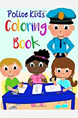 Police Kids Coloring Book Paperback