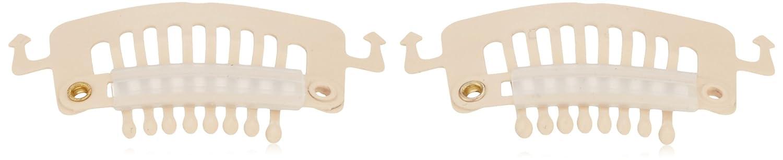 Solida toupet kä mmchen con gancio, rivestimento in gomma, dimensioni circa 3.50 x 1.80 cm, colore beige, 2er Pack (2 x 1 pezzo) dimensioni circa 3.50x 1.80cm 2er Pack (2x 1pezzo) 191465