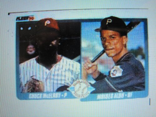 - Moises Alou / Chuck McElroy 1990 Fleer MLB Rookie Card #650 (Major League Prospects)