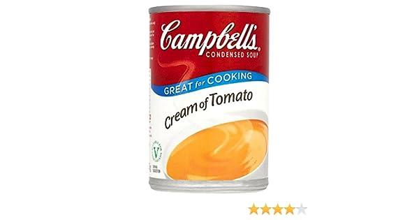 Campbell condensada sopa de crema de tomate 295g (paquete de 6 x 295g): Amazon.es: Alimentación y bebidas