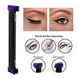 Eyeliner Stamp Kit – Latest Tool For Easy Cat Eyes & Winged Eyeliner – Includes Wing Stamp, Angled Brush & Eyeliner Ink (S - 0.43 inch)