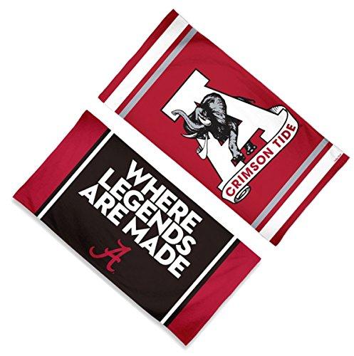(WinCraft Alabama Crimson Tide Premium Spectra Beach Towel Gift Set: 1 Where Legends are Made Towel and 1 Crimson Tide Retro Towel)
