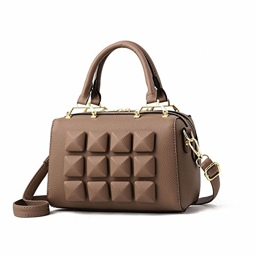 Phone Color Mobile Bag Personality Hit Zipper Co Surface Color Fashion Document Travel Contrast Solid Leather Style Mini College Soft Shoulder Bag Double Pu Soft Bag Casual Female Female Root Khaki Backpack 6O7Wdfa