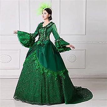 c790c663965fb Amazon.co.jp:  ノーブランド品 グリーンドレスオペラ声楽 中世貴族風 ...