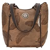 American West Women's Sacred Bird Bucket Tote Distressed Brown One Size