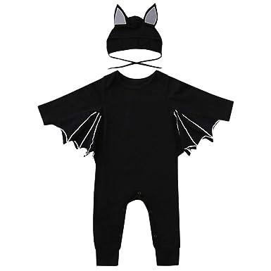 Baby Langarm Halloween Cosplay Fledermaus Ärmel Strampler