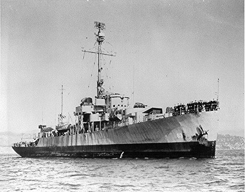 USS Moberly (PF-63) Off San Francisco, CA in early 1946. U.S. Navy photo NH 79077 from the Naval His
