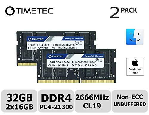 (Timetec Hynix IC Apple 32GB Kit (2x16GB) DDR4 2666MHz PC4-21300 SODIMM Memory Upgrade for Mac Mini 8,1 Late 2018 and iMac TBD2 Retina 5K 27-inch Early 2019(32GB Kit (2x16GB)))