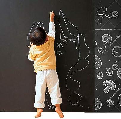 Cusfull 1 Pcs Pizarra Negra Tiza Autoadhesiva Pegatina de Pared Frigorífico para Niños Calendario Planificador en Casa Oficina Papel de Pizzara Despegable Infantil 90cm*200cm: Amazon.es: Bricolaje y herramientas