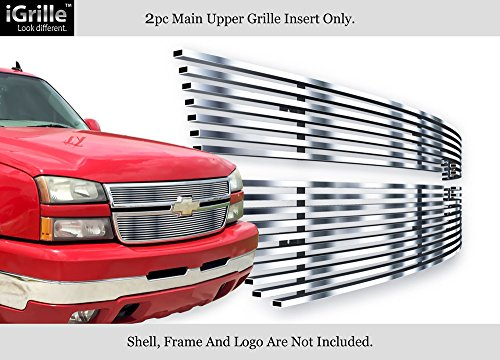 APS Stainless Steel 304 Billet Grille Grill Custome Fits 06-07 Chevy Silverado 1500/05-06 (Silverado Stainless Steel Billet Grille)