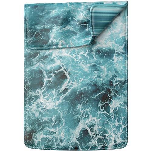 Lex Altern Tablet Sleeve Case for iPad Pro 12.9 11 10.5 9.7 inch Mini 5 4 3 2 1 Air 2 2019 2018 2017 5th 6th 3rd Gen Nature Sea Waves Blue Aqua Fresh Water Pool Design Women Leather Girly Lightweight