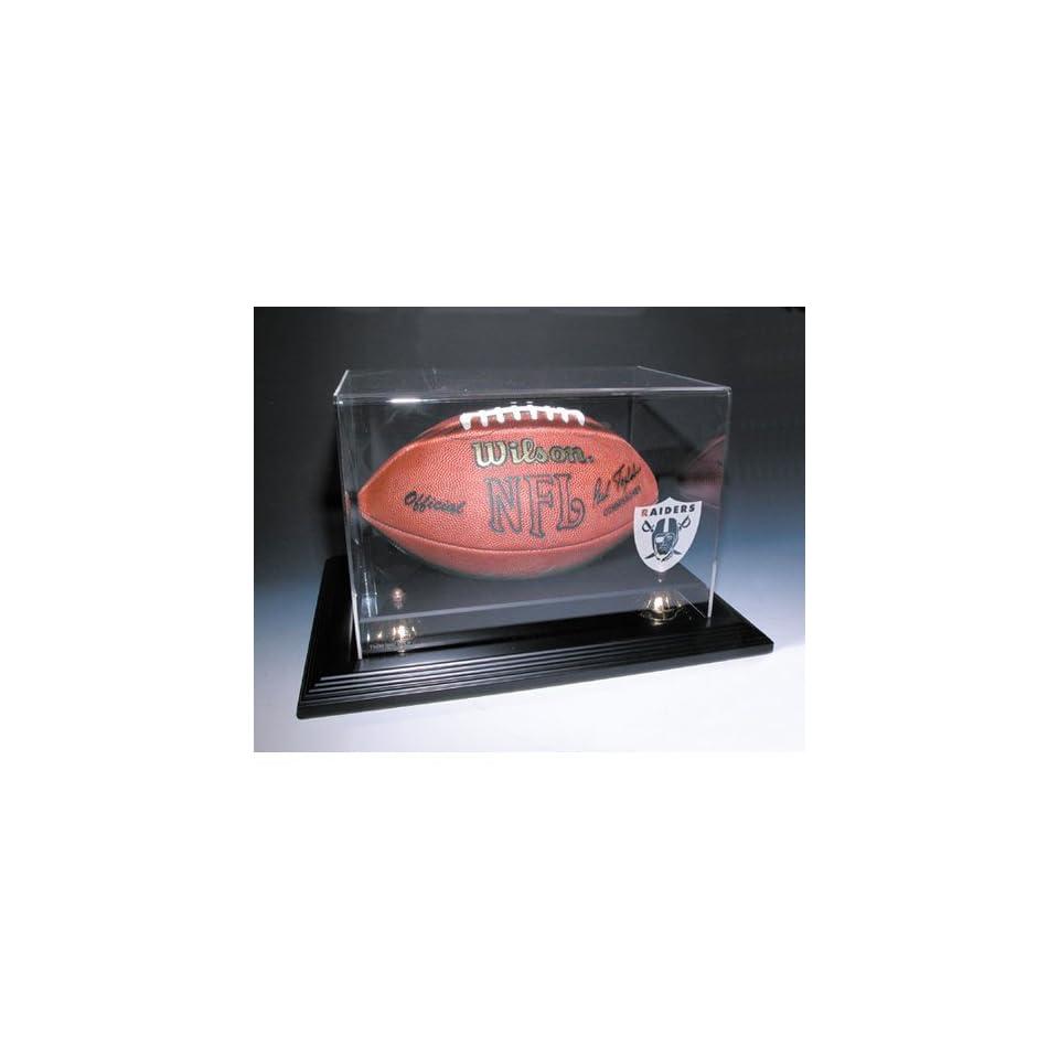 Oakland Raiders Nfl Zenith Football Display Case (Mahogany)