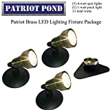 Patriot Brass LED Waterproof Pond and Landscape Lighting Fixture ONLY Kit PF-B4