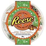 REESE Christmas Peanut Butter Chocolate Candy Patry Tray, Gift, 500-Gram