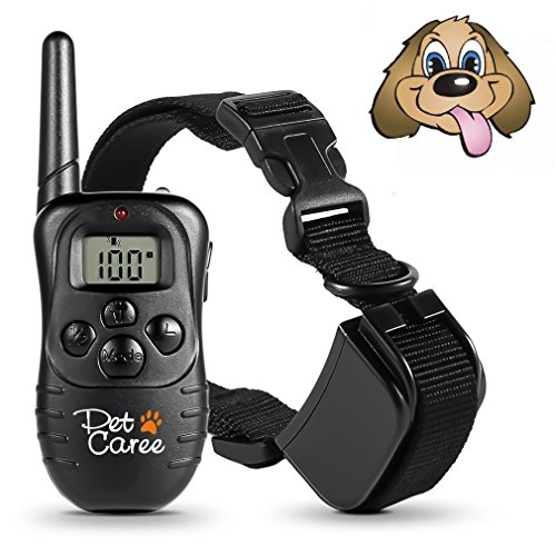 instecho Dog Training Collar, 100% Rainproof Rechargeable Electronic Remote Dog Shock Collar 330 Yards with Beep/Vibrating/Shock Electric E-collar by instecho