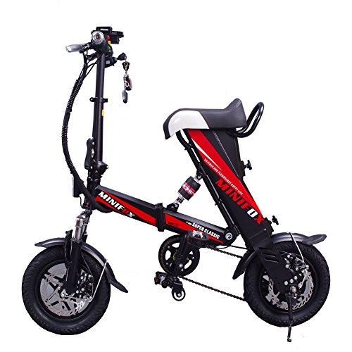MEIYATU E-Bike – Folding Electric Bicycle with 15-18 Mile Range, E-Bike Scooter 250W Powerful Motor Collapsible Frame 36V