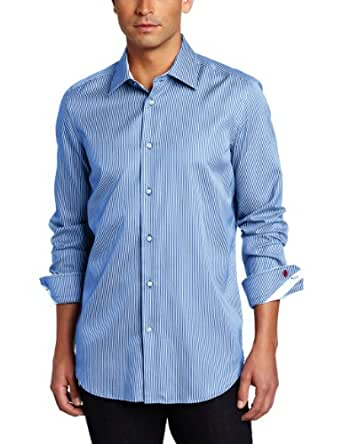 Robert Graham Men's Brad Shirt, Medium Blue, 17