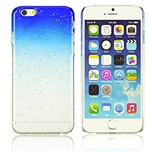 Transparent Gradient Water Drop Design Hard Back Case Cover For SamSung Galaxy S4 Smartphone Blue with Screen Protectors