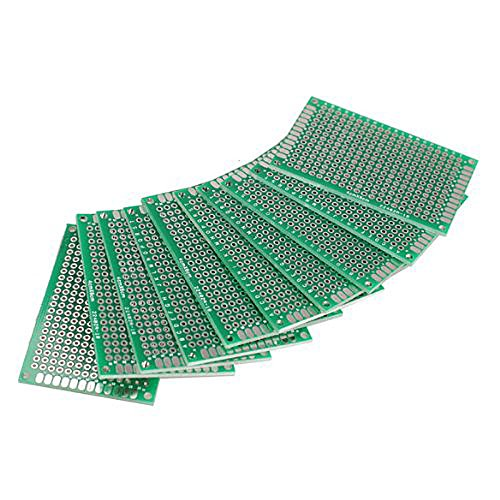 Hrph 10pcs 4x6cm Double Side Prototype PCB Universal Circuit Board 37108
