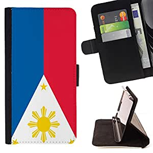 - Flag - - Premium PU Leather Wallet Case with Card Slots, Cash Compartment and Detachable Wrist Strap FOR Sony Xperia Z3 D6653 King case