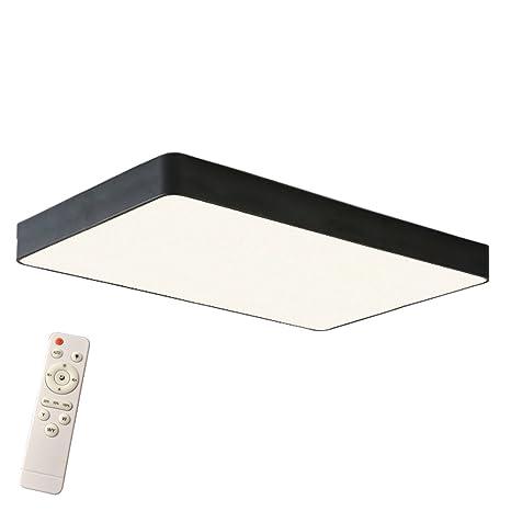HENGMEI 48W Lámpara de techo LED Regulable Plafón de techo LED Iluminación Interior para Pasillo Salón Cocina Dormitorio, Marco negro