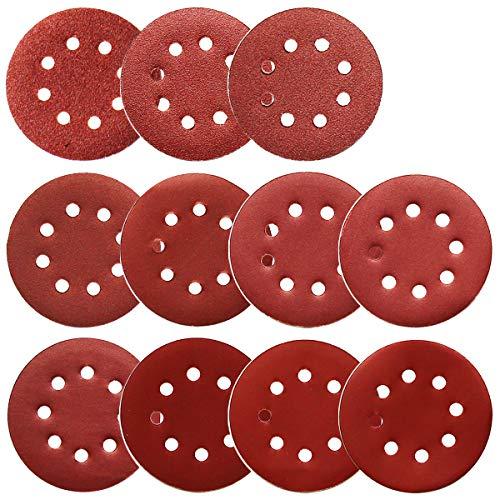 Sanding Discs for Orbital Sander, Assorted Sandpaper 40-1000 Grits, 110pcs by FRIMOONY ()