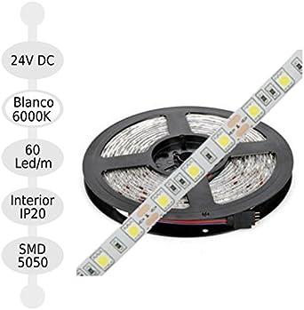 Jandei - Tira Led 24v 6000K Interior 60led/m Smd5050 Adhesivo 3m Bobina 5m