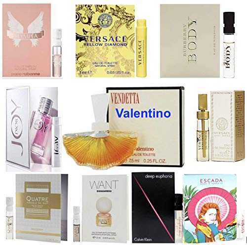 Pilestone Collection: Designer Fragrance Samples for Women - Sampler Lot x 10 Perfume Vials (High end perfume collections)