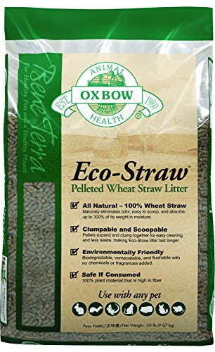 Straw Dog Bedding (OXBOW PET PRODUCTS 448061 Eco-straw Small Animal Bedding for Pets, 20-Pound)