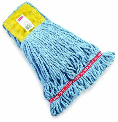 Rubbermaid Commercial Web Foot Shrinkless Wet Mop, Small, Blue, FGA25106BL00