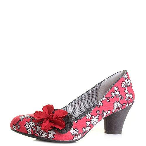 Ruby Shoo Samira Femmes Rouge Chaussures