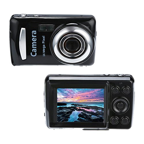 Digital Camera Point and Shoot, 2.4HD Screen Digital Camera 16MP Anti-Shake Face Detection Camcorder Blank, Recording HD 1280P Resolution Videos (Black) (Shake Face Anti)