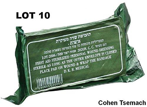 - LOT OF 10 dressingTrauma Bandage Field Emergency IFAK Israeli Army IDF
