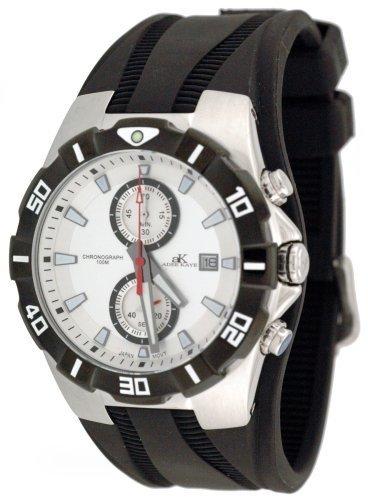 Adee Kaye Dapper Sports Chronograph Watch with Cuff Rubber Strap Model AK-6202-M7